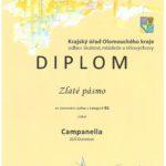 Diplom-zlaté pásmo, soutěž ZUŠ Olomouckého kraje, Jeseník 2016
