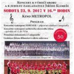 Plakát k 50. výročí Campanelly